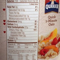 Quaker Oatmeal Nutrition Cooked